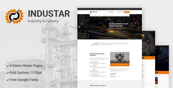 INDUSTAR V1.0 – INDUSTRY & FACTORY PSD TEMPLATE