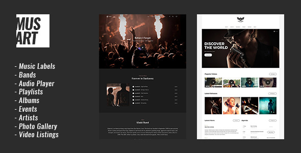 MUSART V1.1.2 – MUSIC LABEL AND ARTISTS WORDPRESS THEME