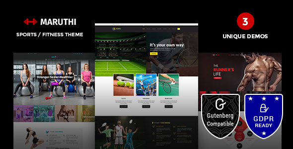 MARUTHI FITNESS V1.3 – FITNESS CENTER WORDPRESS THEME