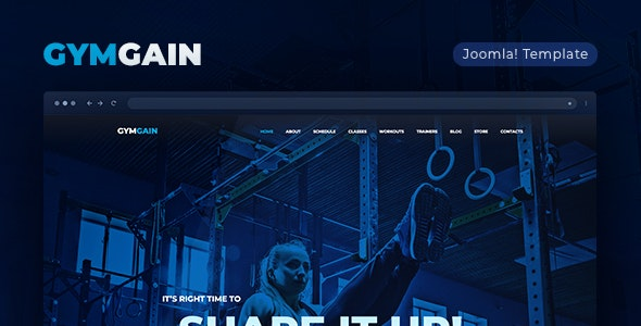 GYMGAIN V1.0.0 – SPORTS JOOMLA TEMPLATE