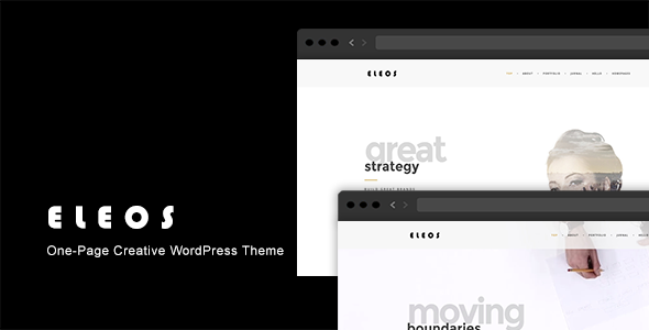 ELEOS V1.3.1 – ONE-PAGE CREATIVE WORDPRESS THEME