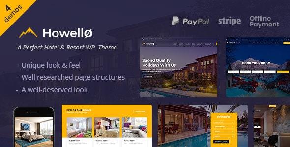HOWELLO V2.0 – HOTEL AND RESORT WORDPRESS THEME