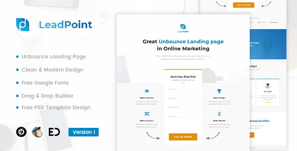 LEADPOINT V1.0 – LEAD GENERATION UNBOUNCE LANDING PAGE TEMPLATE