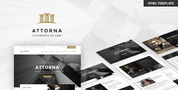ATTORNA – LAWYER & ATTORNEY HTML TEMPLATE