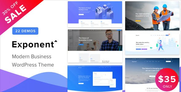 EXPONENT V1.0.5 – MODERN MULTI-PURPOSE BUSINESS THEME