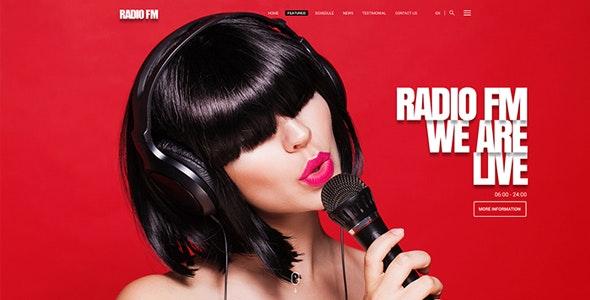 RADIO FM V1.0 – HTML BOOTSTRAP TEMPLATE