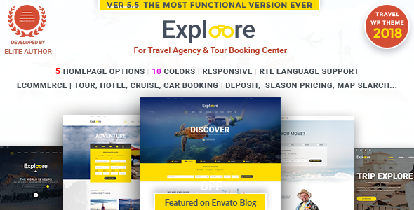 EXPLOORE V5.7 – TOUR BOOKING TRAVEL WORDPRESS THEME