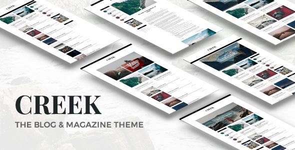 CREEK V1.0 – CLASSIC ELEGANT MAGAZINE WORDPRESS THEME