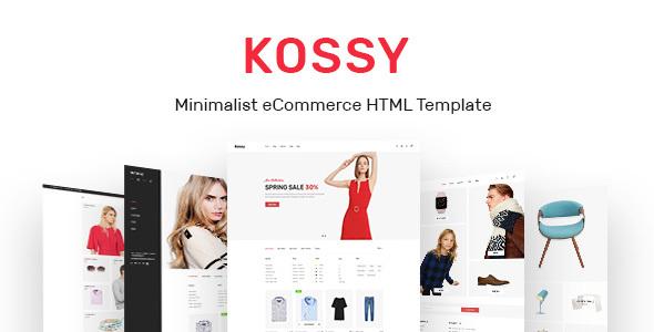 KOSSY – MINIMALIST ECOMMERCE HTML TEMPLATE