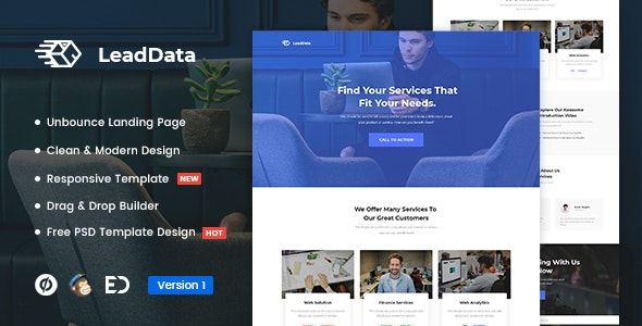 LEADDATA V1.0 – LEAD GENERATION UNBOUNCE LANDING PAGE TEMPLATE