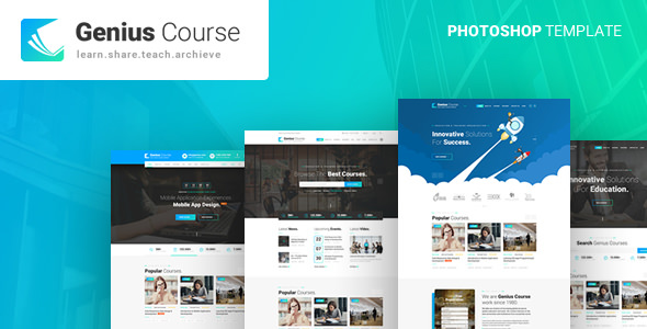 GENIUS – LEARNING & COURSE PSD TEMPLATE
