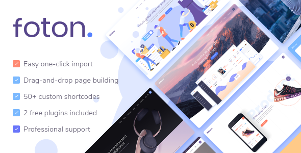 FOTON V1.0.1 – A MULTI-CONCEPT SOFTWARE AND APP LANDING THEME