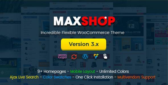 MAXSHOP V3.3.0 – MULTI-PURPOSE RESPONSIVE WOOCOMMERCE THEME
