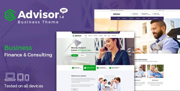 ADVISOR V1.4.1 – CONSULTING, BUSINESS, FINANCE THEME