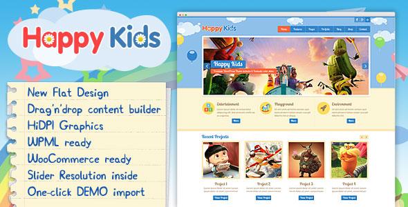 HAPPY KIDS V3.5.0 – CHILDREN WORDPRESS THEME
