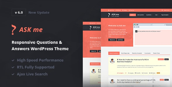ASK ME V6.0 – RESPONSIVE QUESTIONS & ANSWERS WORDPRESS