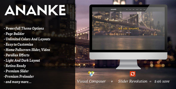 ANANKE V3.6.5 – ONE PAGE PARALLAX WORDPRESS THEME