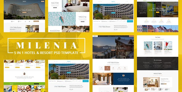 MILENIA V1.0 – HOTEL & RESORT PSD TEMPLATE