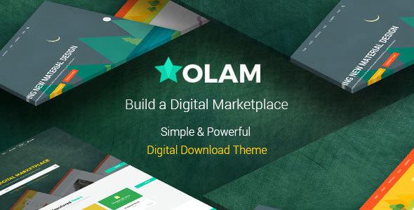 OLAM V4.4.2 – WORDPRESS EASY DIGITAL DOWNLOADS THEME