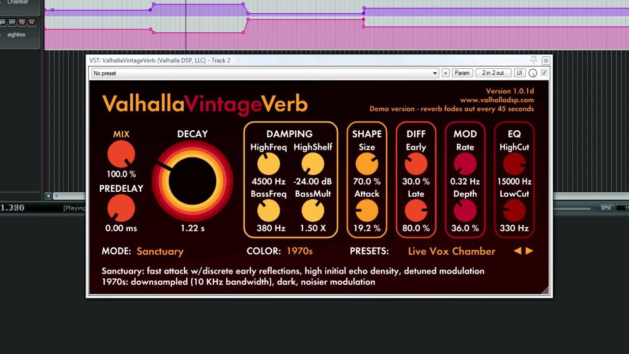 Valhalla Plate / Room / Vintage Verb VST Free Download