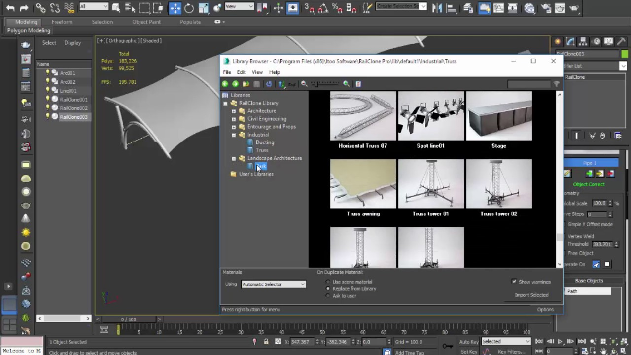 Download Itoo RailClone Pro for 3ds Max