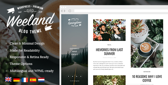 WEELAND V1.2.1 – MASONRY LIFESTYLE WORDPRESS BLOG THEME