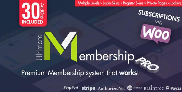 Ultimate Membership Pro WordPress Plugin v7.5