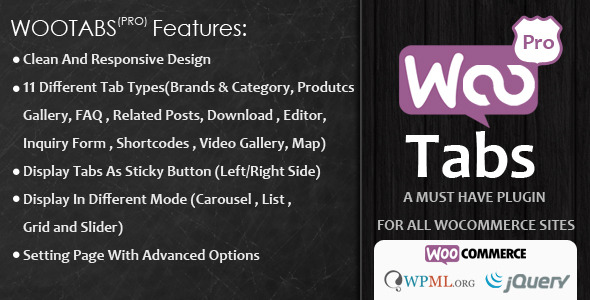 Woocommerce Tabs Pro v3.0 – Extra Tabs for Product Page