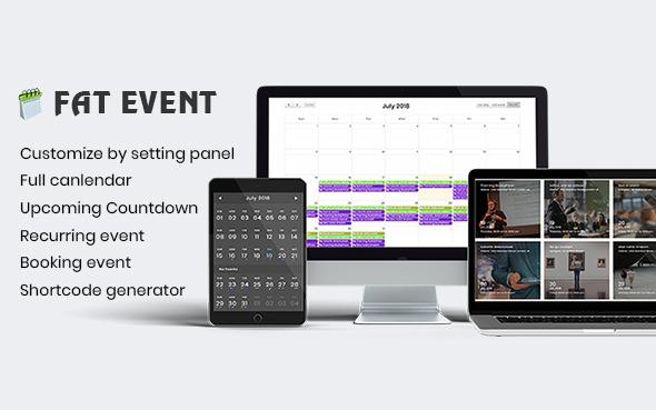 FAT Event v1.2.3 – WordPress Event and Calendar Booking