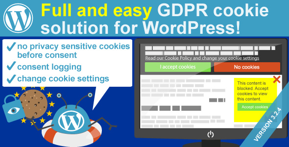 WeePie Cookie Allow v3.2.4 – Easy & Complete Cookie Consent