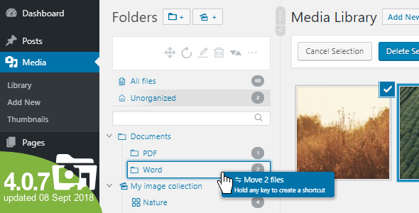 WP Real Media Library v4.0.7 – Media Categories / Folders