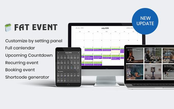 FAT Event v2.0 – WordPress Event and Calendar Booking