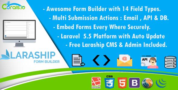 Laraship Form Builder – Drag & Drop Laravel Form Builder With CMS & Admin