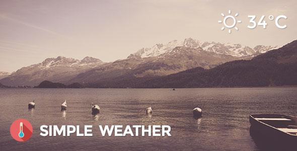 Weather v4.3.1 – Simple WordPress Shortcode & Widget