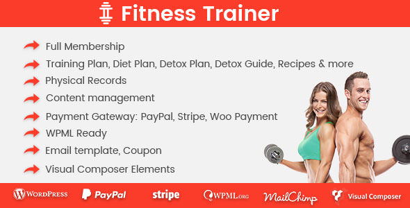 Fitness Trainer v1.3.1 – Training Membership Plugin