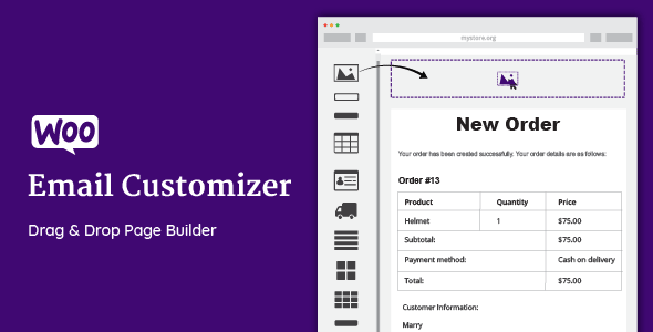 WooCommerce Email Customizer with Drag and Drop v1.4.35