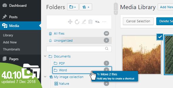 WP Real Media Library v4.0.10 – Media Categories / Folders
