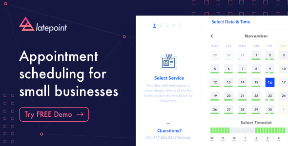 LatePoint v1.3.4 – Appointment Booking & Reservation plugin