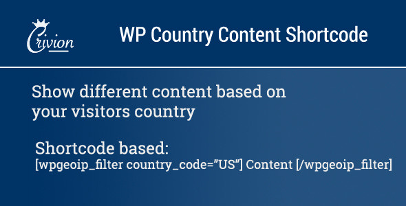 WP Country Specific Content v1.1