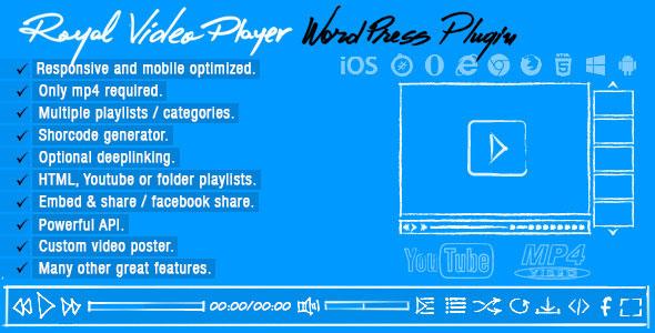 Royal Video Player v3.4 – WordPress Plugin