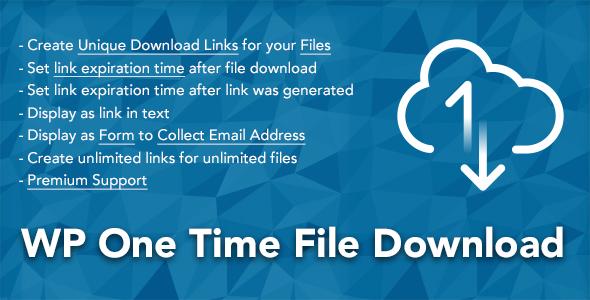 WP One Time File Download v2.3