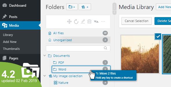 WP Real Media Library v4.2.0 – Media Categories / Folders