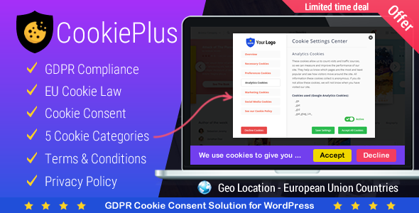Cookie Plus v1.2.8 – GDPR Cookie Consent Solution