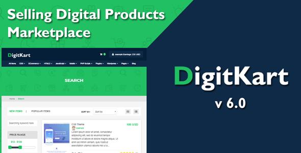 DigitKart v6.0 – Multivendor Digital Products Marketplace