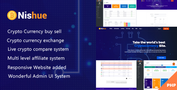 Nishue v1.9 – CryptoCurrency Buy Sell Exchange and Lending with MLM System   Live Crypto Compare