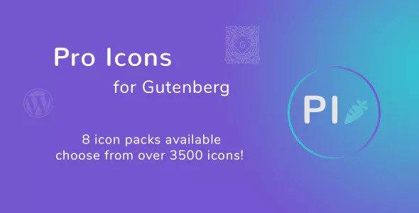 Pro Icons for Gutenberg WordPress Editor v1.0.0