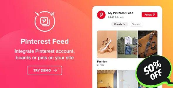 Pinterest Feed v1.0.1 – WordPress Pinterest Feed plugin