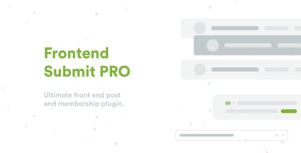 Frontend Submit PRO v3.5