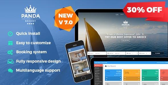 Panda Resort v7.1.5 – CMS for Single Hotel – Booking System