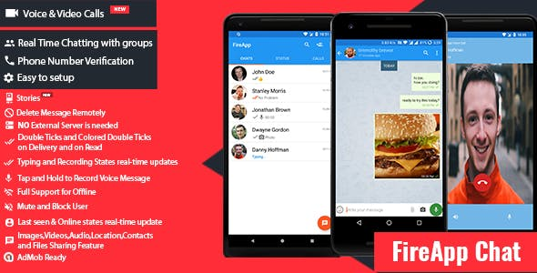 FireApp Chat v1.2.4 – Android Chatting App with Groups Inspired by WhatsApp